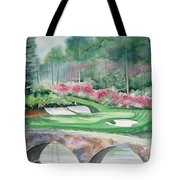 Augusta National 12th Hole Tote Bag by Deborah Ronglien
