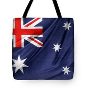 Australian Flag Tote Bag by Les Cunliffe