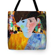 Autism - Child And Mother Tote Bag by Carmencita Balagtas