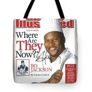 Autographed Sports Illustrated Cover By Bo Jackson Bo Knows Cookin' Tote Bag by Desiderata Gallery