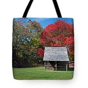 Autum For A Mountain Home Tote Bag by Skip Willits
