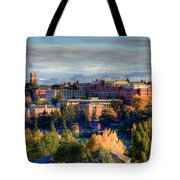 Autumn At Wsu Tote Bag by David Patterson