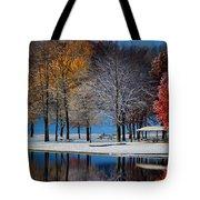 Autumn Blues Tote Bag by Rob Blair
