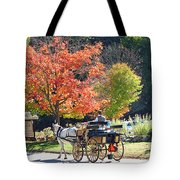 Autumn Carriage Ride Tote Bag by Barbara McDevitt