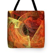 Autumn Chaos Tote Bag by Andee Design