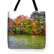 Autumn Color In Norfolk Botanical Garden 3 Tote Bag by Lanjee Chee