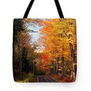 Autumn Country Road Tote Bag by Joann Vitali