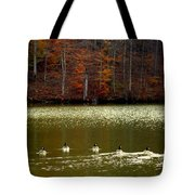 Autumn Cove Tote Bag by Karen Wiles