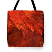 Autumn Fire Pano 2 Vertical Tote Bag by Andee Design