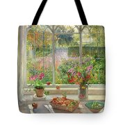 Autumn Fruit and Flowers Tote Bag by Timothy  Easton