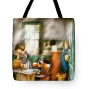 Autumn - Halloween - Carving A Pumpkin Tote Bag by Mike Savad