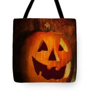 Autumn - Halloween - Jack-o-lantern  Tote Bag by Mike Savad