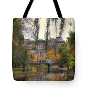 Autumn in Boston Garden Tote Bag by Joann Vitali