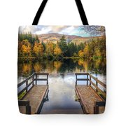 Autumn In Glencoe Lochan Tote Bag by Dave Bowman