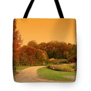 Autumn In The Park - Holmdel Park Tote Bag by Angie Tirado