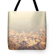 Autumn Leaves Floating In The Fog Tote Bag by Angela A Stanton