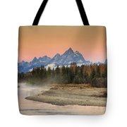 Autumn Mist Tote Bag by Mark Kiver