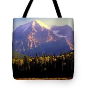 Autumn On The Mount Tote Bag by Karen Wiles