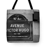 Avenue Victor Hugo Paris Road Sign Tote Bag by Nomad Art And  Design
