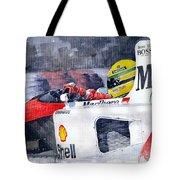 Ayrton Senna Mclaren 1991 Hungarian Gp Tote Bag by Yuriy Shevchuk