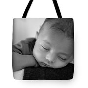 Baby Sleeps Tote Bag by Lisa Phillips