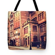 Back In Time - Stone Street Historic District - New York City Tote Bag by Vivienne Gucwa