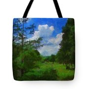 Back Yard View Tote Bag by Jeff Kolker