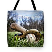 Backyard Baseball Memories Tote Bag by Cricket Hackmann