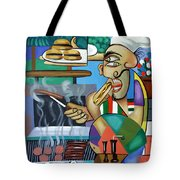 Backyard Chef Tote Bag by Anthony Falbo