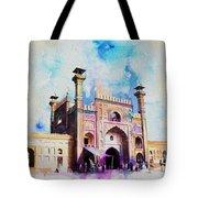 Badshahi Mosque Gate Tote Bag by Catf