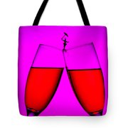Balance On Red Wine Cups Little People On Food Tote Bag by Paul Ge
