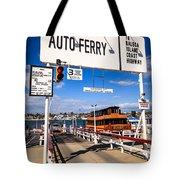 Balboa Island Auto Ferry In Newport Beach California Tote Bag by Paul Velgos