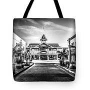 Balboa Pavilion Newport Beach Black And White Picture Tote Bag by Paul Velgos