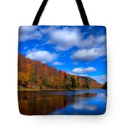 Bald Mountain Pond in Autumn Tote Bag by David Patterson