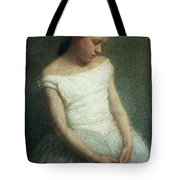 Ballerina female dancer Tote Bag by Angelo Morbelli