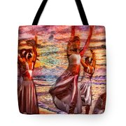 Ballet On The Beach Tote Bag by Jeff Breiman