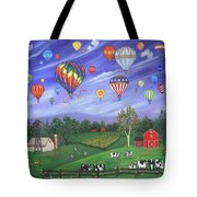 Balloon Race One Tote Bag by Linda Mears