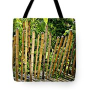 Bamboo Fencing Tote Bag by Lilliana Mendez