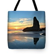 Bandon Oregon Sunset Tote Bag by Adam Jewell