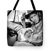 Banjo Man Tote Bag by Darryl Dalton