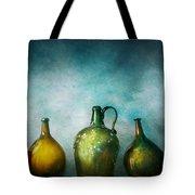 Bar - Bottles - Green Bottles Tote Bag by Mike Savad
