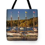 Bar Harbor Schooner Tote Bag by Brian Jannsen