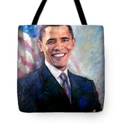 Barack Obama Tote Bag by Viola El