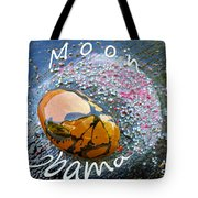 Barack Obama Moon Tote Bag by Augusta Stylianou