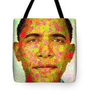 Barack Obama - Maple Leaves Tote Bag by Samuel Majcen