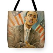 Barack Obama Taking It Easy Tote Bag by Miki De Goodaboom
