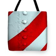 Barber Pole Tote Bag by Chris Berry