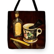 Barber - Shaving Mug And Toilet Water Tote Bag by Paul Ward
