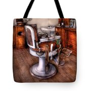 Barber - The Barber Chair Tote Bag by Mike Savad