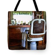 Barber - The Barber Shop Tote Bag by Paul Ward